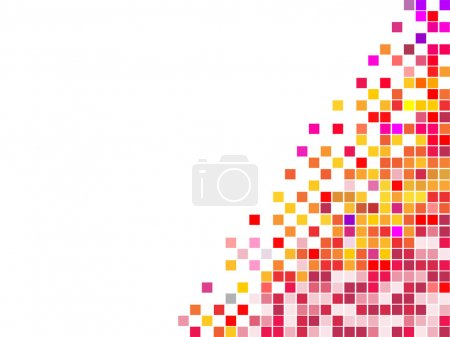 Illustration for Vector illustration of many colorful square mosaic - Royalty Free Image
