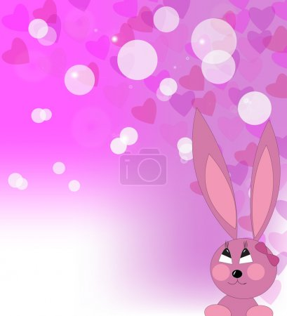Enamoured pink rabbit