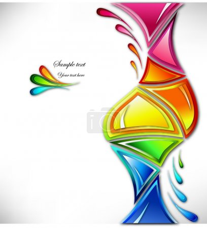 Splash in various colours . Vector