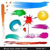 Grungy design colorful elements Vector set (2)
