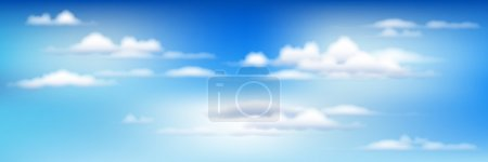 Illustration for Background With Blue Sky And Clouds - Royalty Free Image