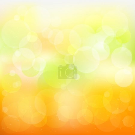 Illustration for Abstract Orange And Yellow Vector Background With Stars - Royalty Free Image