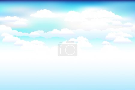 Illustration for Beautiful Blue Vector Sky And Clouds - Royalty Free Image