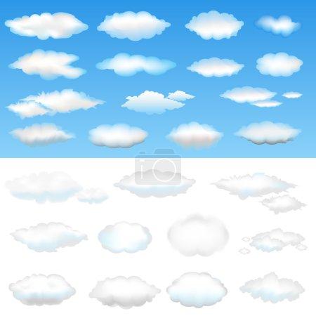 Illustration for Twenty Six Clouds, Vector Illustration - Royalty Free Image