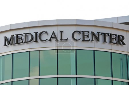 Photo for Medical Center Sign over New Hospital Entrance - Royalty Free Image