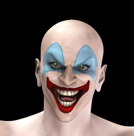 An very evil looking clown for Halloween....
