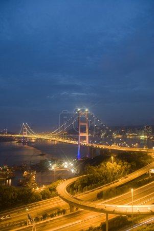 Hong Kong Tsing Ma Bridge .