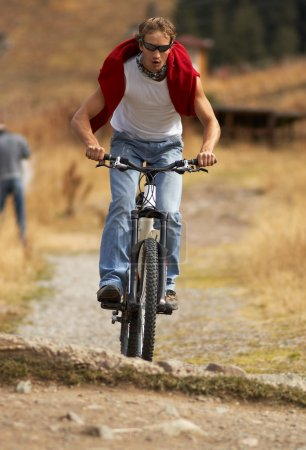 Mountain biker & small drop