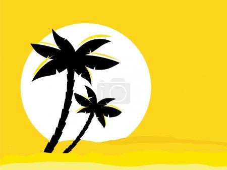 fond jaune lever du soleil du désert