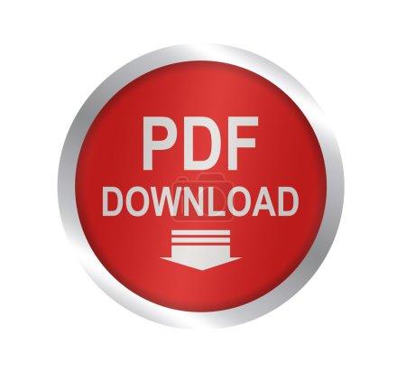 Photo pour Symbole de téléchargement de PDF - image libre de droit