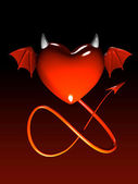 Red heart-devil