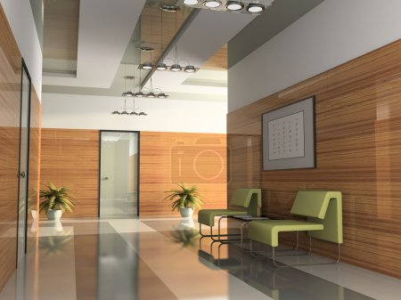 Photo for Interior of the corridor in office 3D rendering2 - Royalty Free Image
