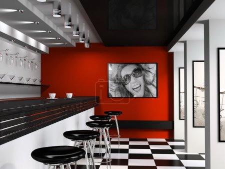 Interior of fashionable bar