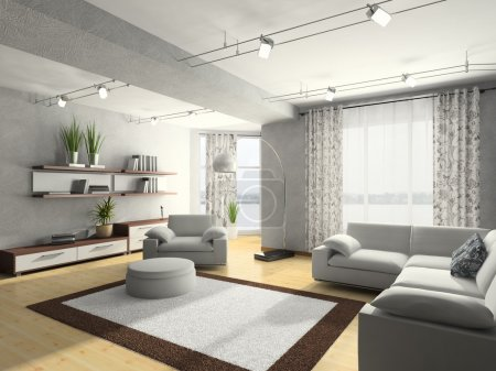 Photo for Home interior 3D rendering - Royalty Free Image