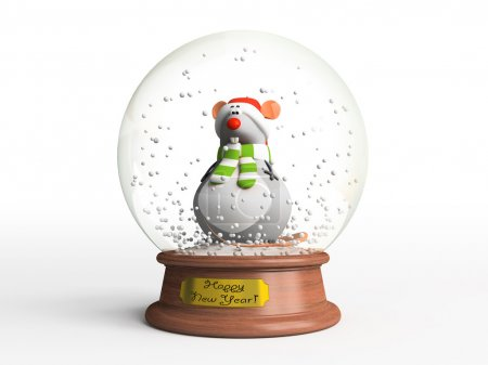Photo for Mouse in snow globe - Royalty Free Image