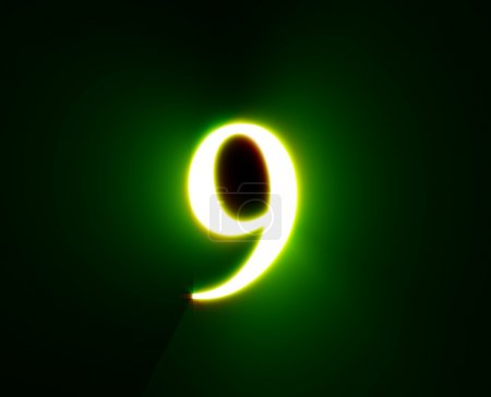 9,NINE,shine, green