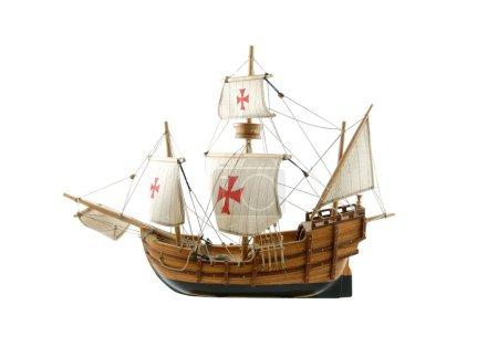 Wooden ship - miniature of Santa Maria