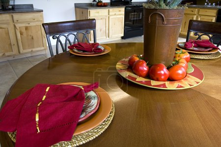 Close up on a Decorated Dinner Table