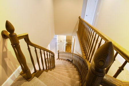 Looking down the Staircase in a Home