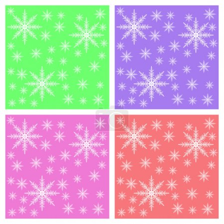Snowflake background for Postcards