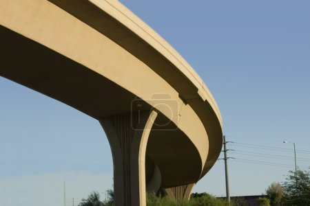 Photo for Close up on the curve of a Bridge over the Highway - Royalty Free Image