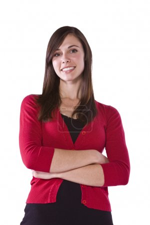 Photo for Beautiful Woman Posing with her arms crossed - Royalty Free Image