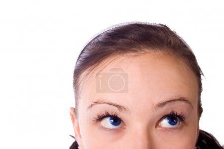 Photo for Cropped Half Image of a Teenager - Isolated - Royalty Free Image