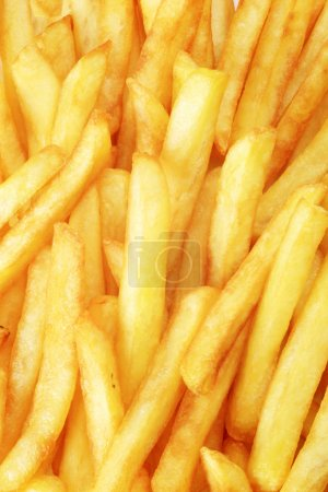Photo pour Macro de frites croustillantes de français - plein cadre - image libre de droit
