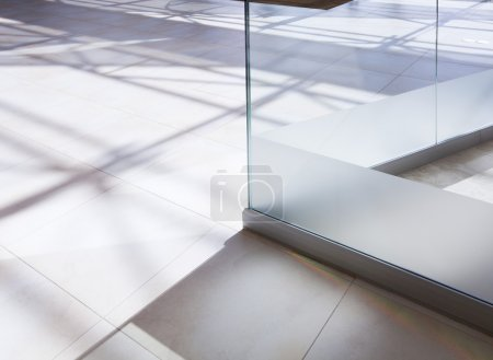 White tiled floor