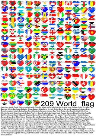 Illustration pour Drapeaux des pays du monde - image libre de droit