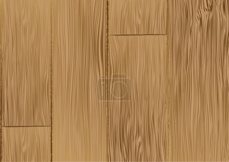 Illustration for Brown wooden texture. Vector background for poster or card - Royalty Free Image