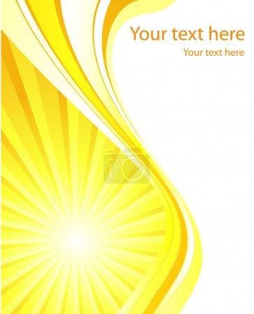 Illustration pour Modèle vectoriel de fond solaire stylisé pour affiche ou carte - image libre de droit