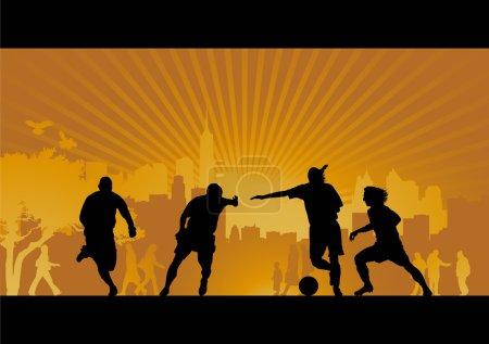 Football, soccer, goal, vector