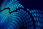 Blue abstract techno dots background