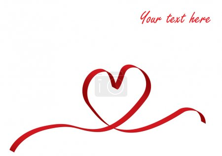 Red love heart ribbon
