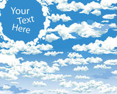 Sky and clouds idea dream vector background