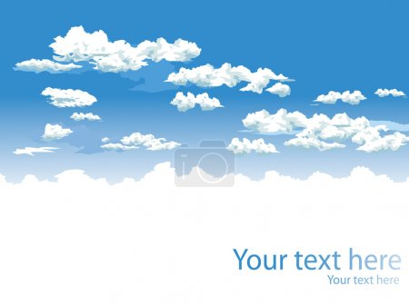 Illustration for Sky and clouds vector background for poster - Royalty Free Image
