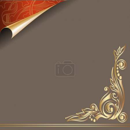 Vector paper golden curl