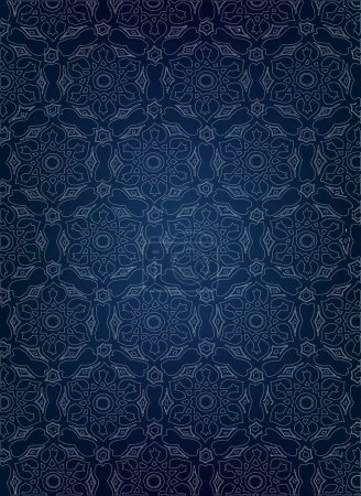 Vertical vintage blue border vector