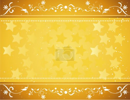 Illustration for Gold star background vector for poster or card - Royalty Free Image
