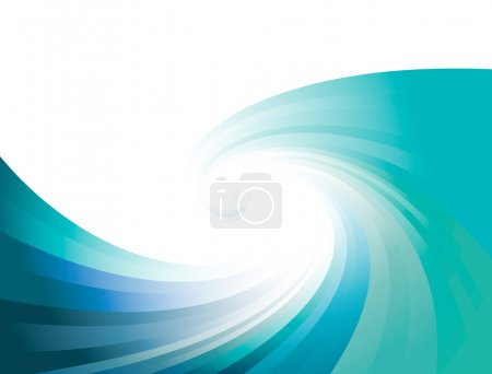 Illustration for Waves blue background vector for poster - Royalty Free Image