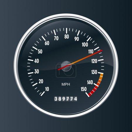 Speedometer vector illustration background