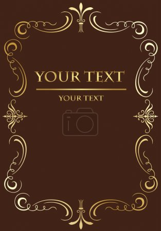 Vintage background for Book cover vector in brown color