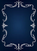 Crystal frame border background vector