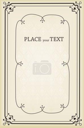 Illustration for Vertical vintage background for Book cover vector for poster - Royalty Free Image