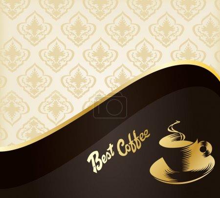 Illustration pour Menu design vintage. concept de vecteur fond café pour affiche - image libre de droit