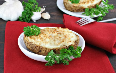 Twice Baked Garlic Potatoes