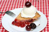 Cherry pie and ice cream