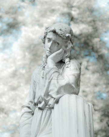 White statue in infrared look