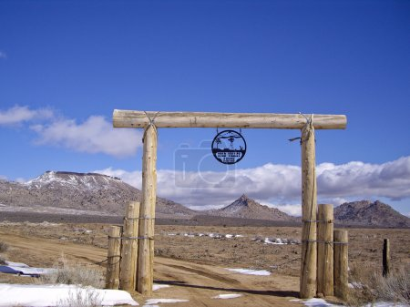 Desert Ranch in snow